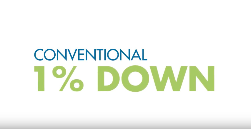 Conventional 1% Down